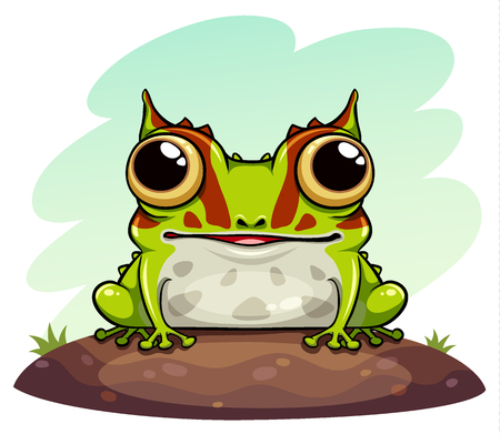 horned frog cartoon illustration