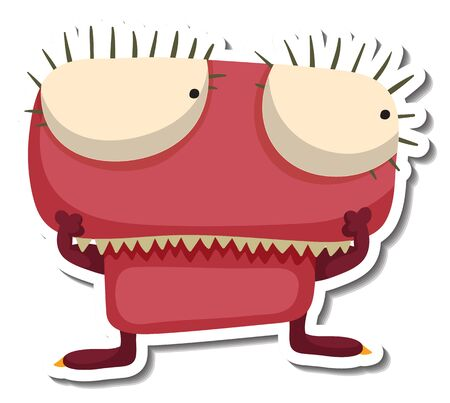 scaring: Alien monster character doodle art design vector illustration. Illustration