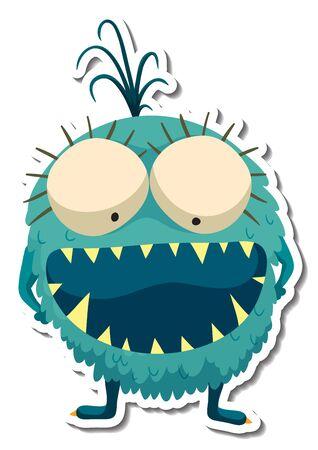 alien monster character doodle art design vector illustration Illustration