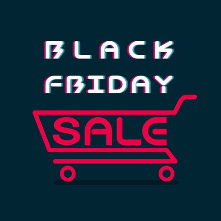 black friday sale banner template design vector illustration Çizim