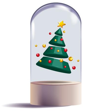 Weihnachtsbaum 3d abstrakte Form Design dekorative Vektor-Illustration