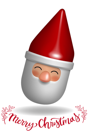 santa claus 3d toy gift character design decorative vector illustration Çizim