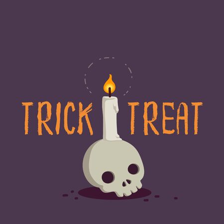 Halloween cute cartoon concept design vector illustration