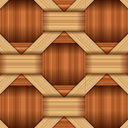 bamboo wood weaving pattern, natural wicker texture surface theme concept, vector illustration Çizim