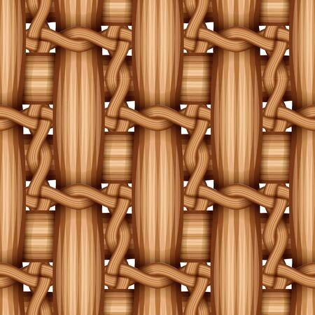bamboo wood weaving pattern, natural wicker texture surface theme concept, vector illustration 向量圖像