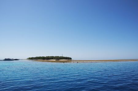 barrier island: Green Island on the Great Barrier Reef Stock Photo