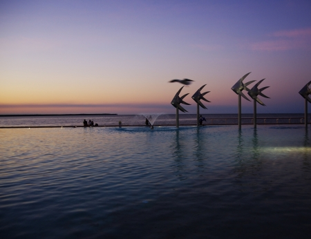 Cairns Esplanade lagoon pool in the evening Stock Photo - 15834722
