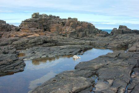 Usutaibe Senjo-iwa  piles of mat-like rocks