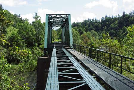 abandoned railroad bridge Stock Photo - 16930535