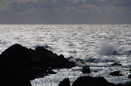 wave brokne at the black rocks