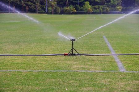 sprinkler on the lawns
