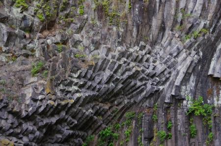 columnar: columnar joint basalt  Seiryudo Cave