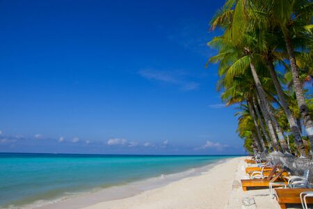 tropical beach at Bohol Island, the Philippines Stock Photo