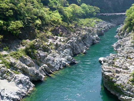 Oboke Gorge in Tokushima, Japan Stock Photo