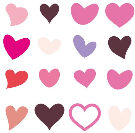 心臓の形状変化  イラスト・ベクター素材