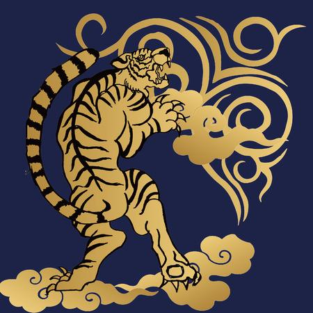 chinoiserie: Ryu Tiger