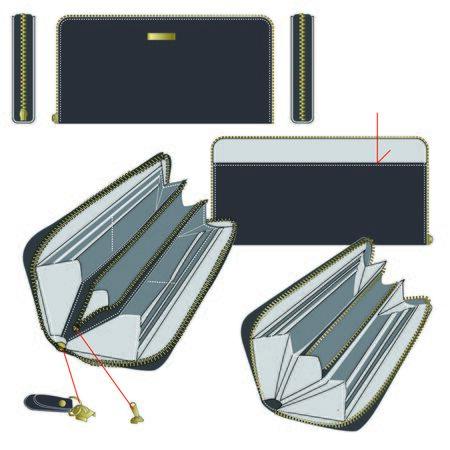 material: wallet for design material