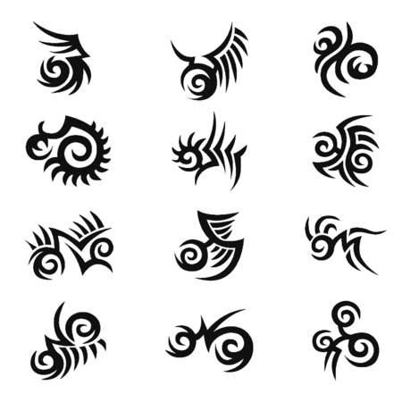 spiffy: Tribal illustration for design material Illustration