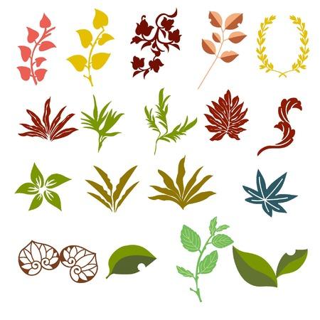 apparel part: leaf parts for design material