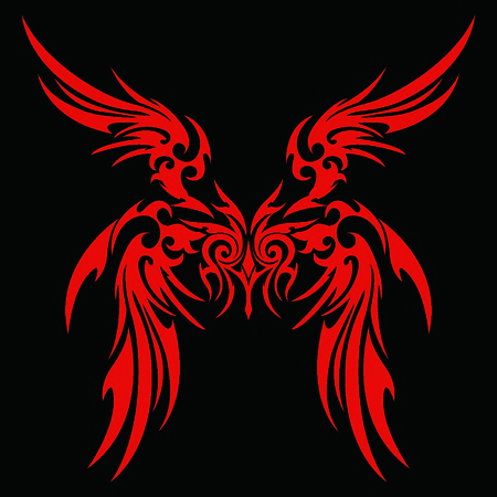garuda: Tribal holy ghost Garuda Illustration