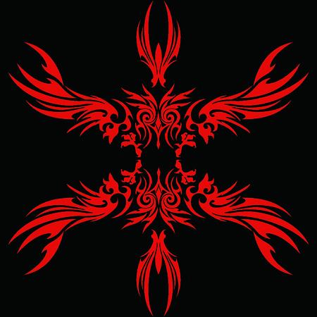 natty: Tribal holy ghost Garuda Illustration