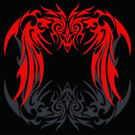 Tribal holy ghost Garuda Illustration