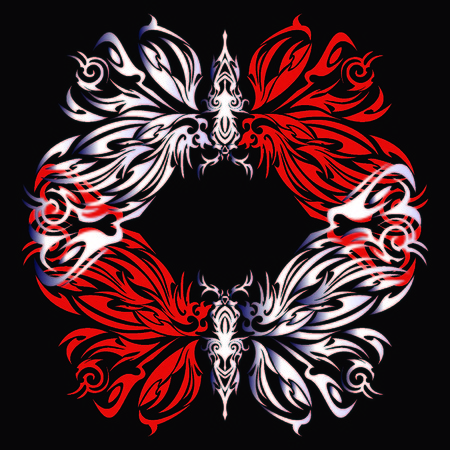 Tribal butterfly vector illustration