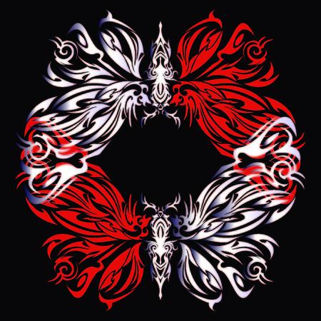 natty: Tribal butterfly vector illustration