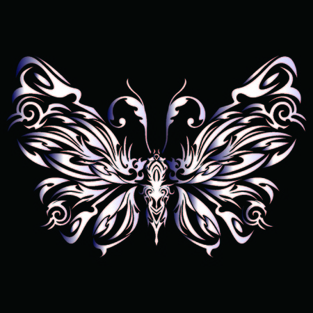 Tribal butterfly Vectores