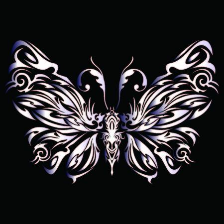 Tribal butterfly Ilustrace