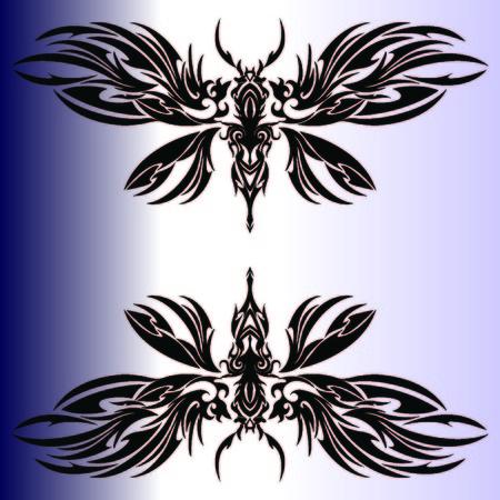 Tribal hornet Illustration