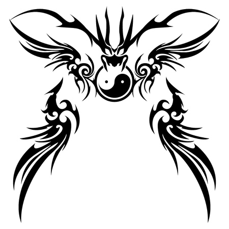 Tribal dragon for design material Ilustrace