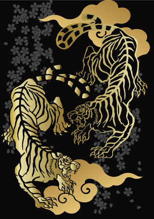 호랑이와 벚꽃