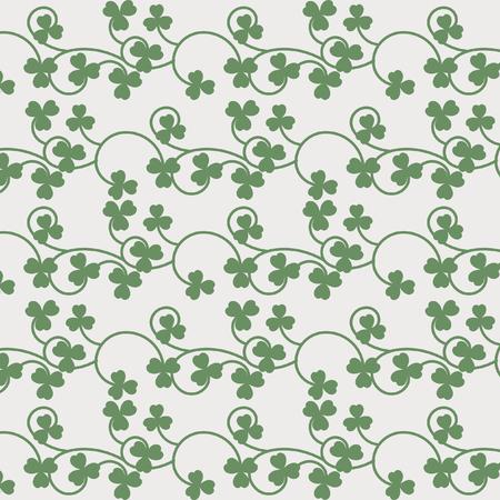 threeleaf: clover seamless pattern Illustration
