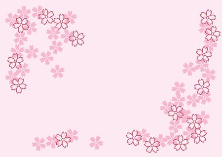 日本の桜の花。