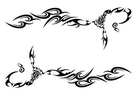 部族スコーピオン イラスト パターン。  イラスト・ベクター素材