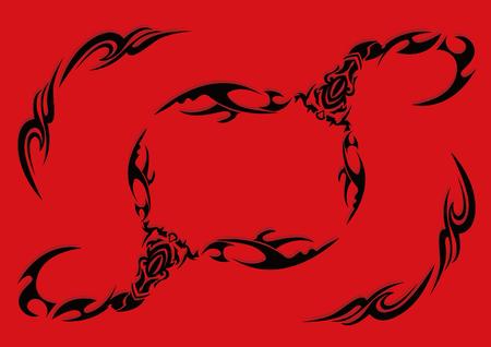 Tribal-Scorpion illustration pattern. Illustration