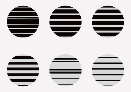 swatch: A set of seamless pattern stripe.