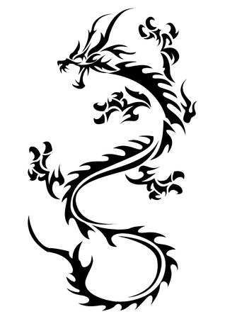 Creative concept of Tribal dragon illustration