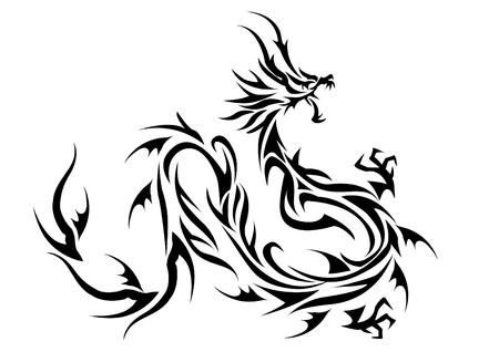 美しい部族ドラゴン イラスト  イラスト・ベクター素材