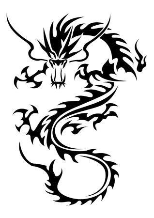 Tribal dragon illustration