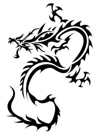 トライバルドラゴンの図