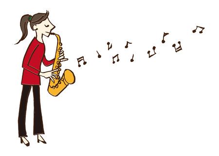 음악가 색소폰 일러스트