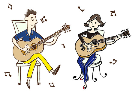 instrumentalist: musician guitar