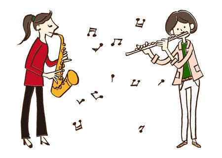 musician saxophone flute