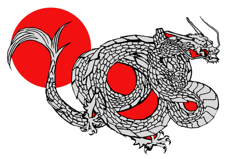 chinese new year dragon: Japanese dragon vector Illustration