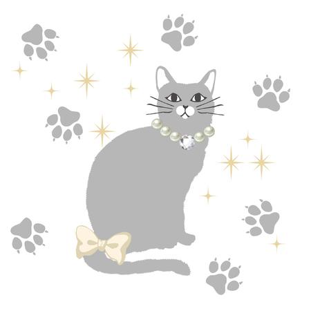 fluffy cat illustration Stock Vector - 76935504