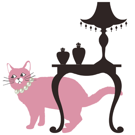 fluffy cat illustration