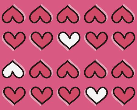 simplification: heart shape  seamless pattern