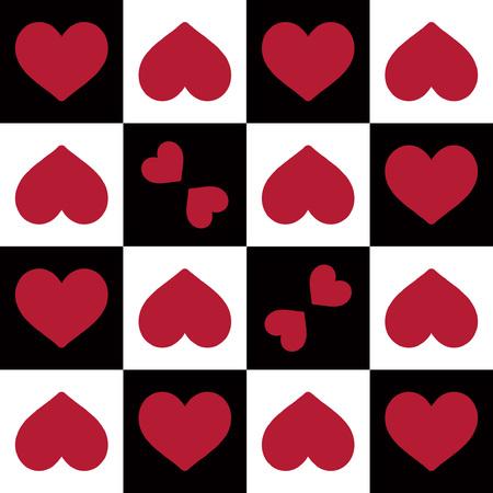convenient: heart shape  seamless pattern